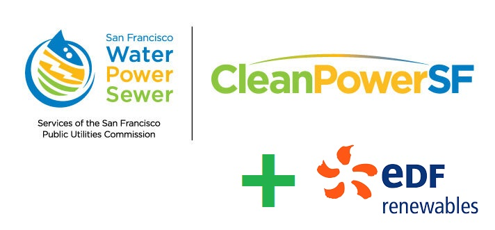EDF Renewables and CleanPowerSF contract